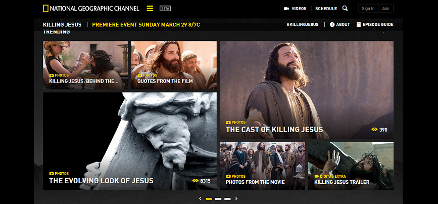 National Geographic Channel Launches Ambitious Second-Screen Experience for KILLING JESUS: NatGeoTV.com/KillingJesus - Yahoo Finance