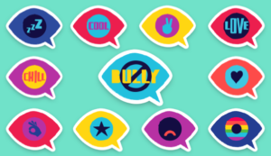 (Kik Partnered with Ad Council on anti-bullying campaign by creating a collection of stickers)